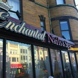 """Start your afternoon with a fresh coat of polish and a mimosa or glass of champagne at <a href=""""https://www.facebook.com/enchanted.nails.spa"""">Enchanted Nails & Spa</a> (2324 18th Street NW). Not only do they have gel manicures from Shellac, OPI, and Essie"""