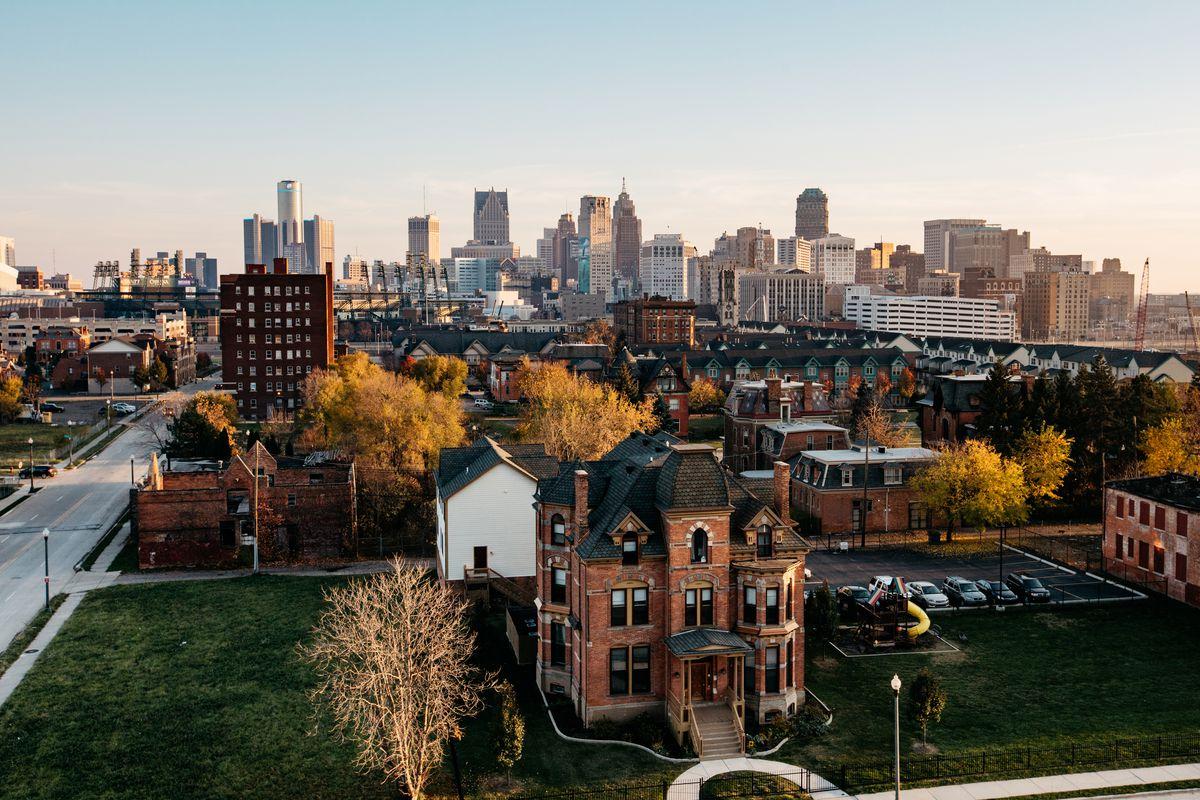 Detroit's historic Brush Park neighborhood.