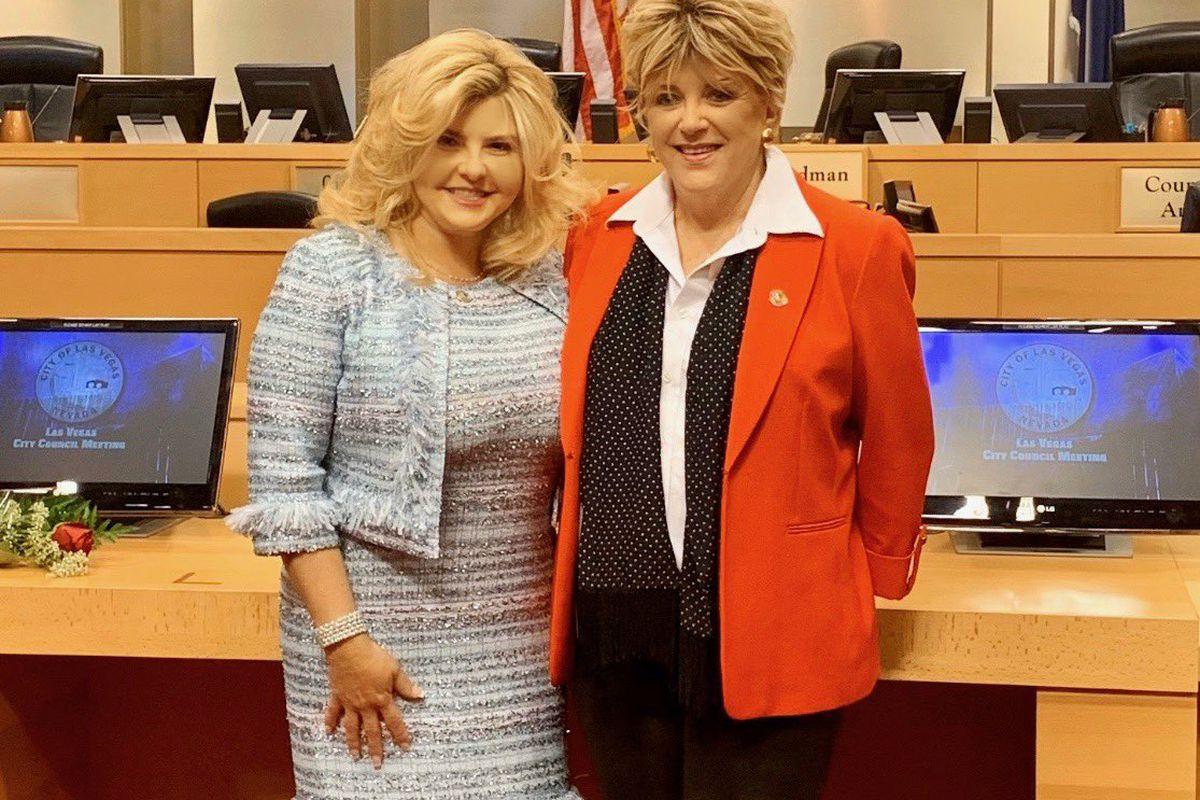 Mayor Pro Tem Michele Fiori and Mayor Carolyn Goodman