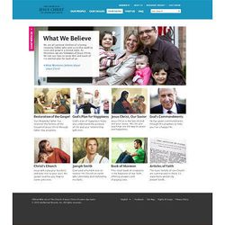 """The site includes three new categories, """"Our People,"""" """"Our Values"""" and """"Our Faith,"""" for members and nonmembers."""