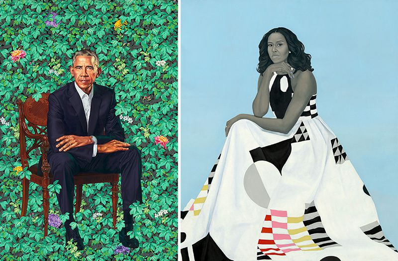 The portraits of Michelle and Barack Obama will be on display at the Art Institute of Chicago in 2021.