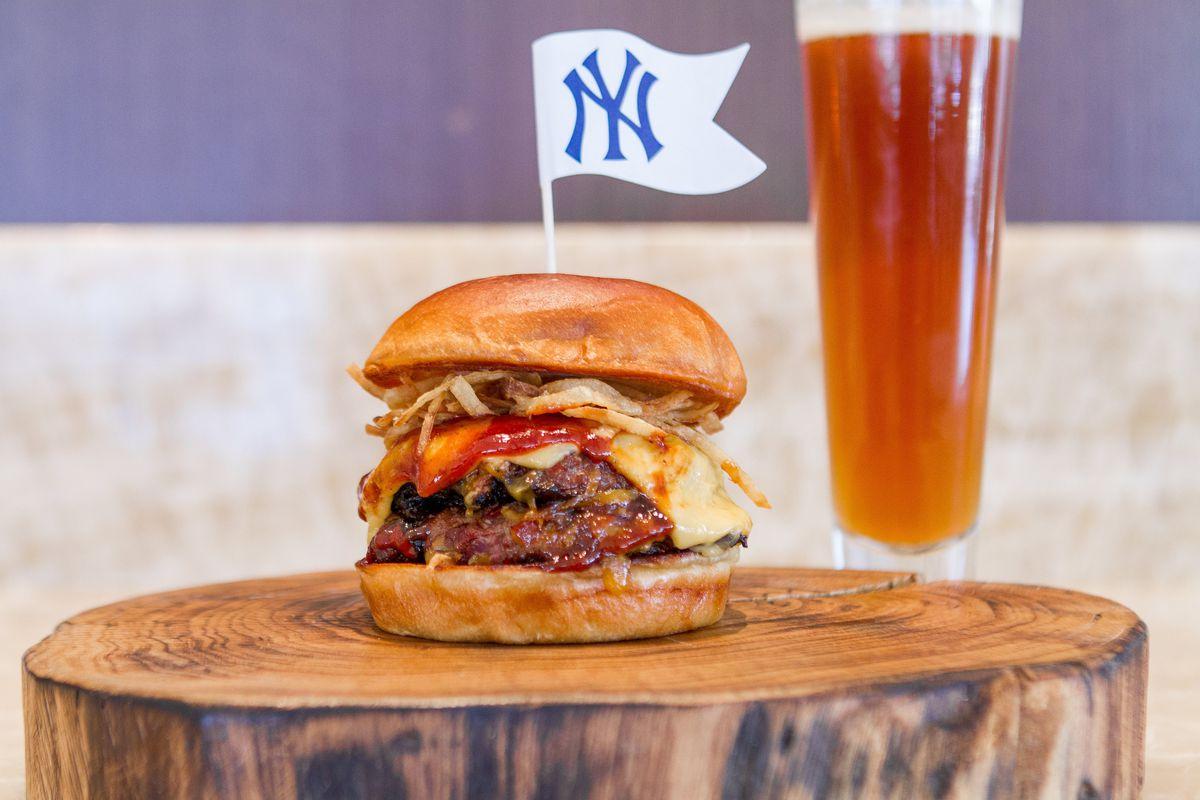 Lobel's meatloaf burger at Yankee Stadium