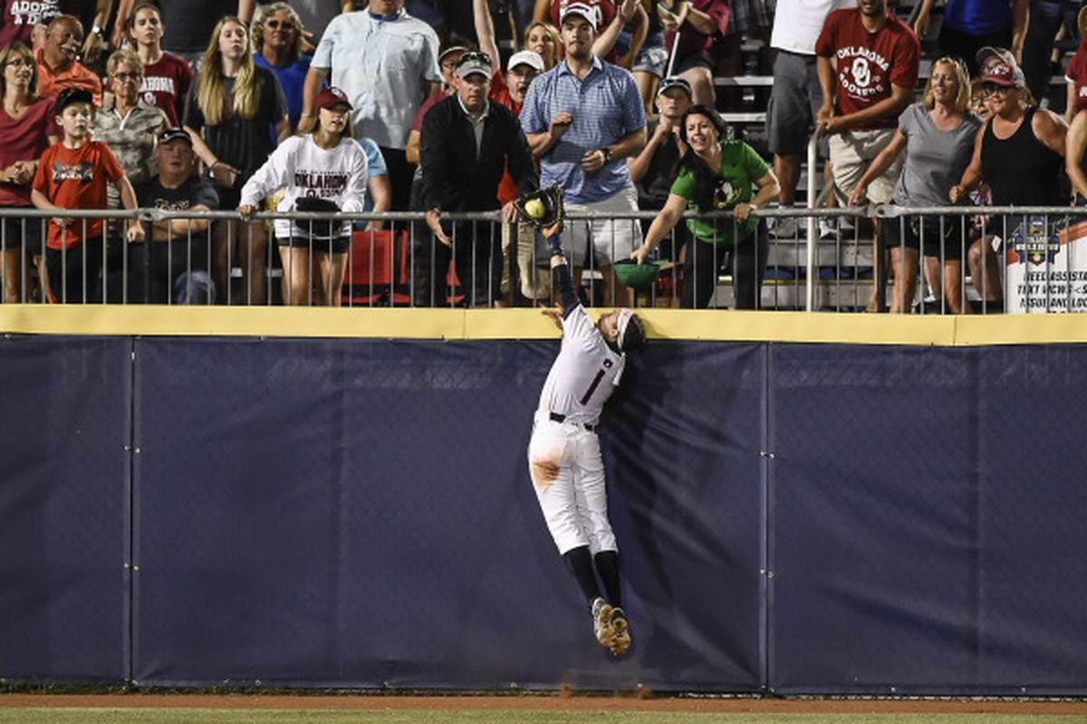 Tiffany Howard with the amazing grab.