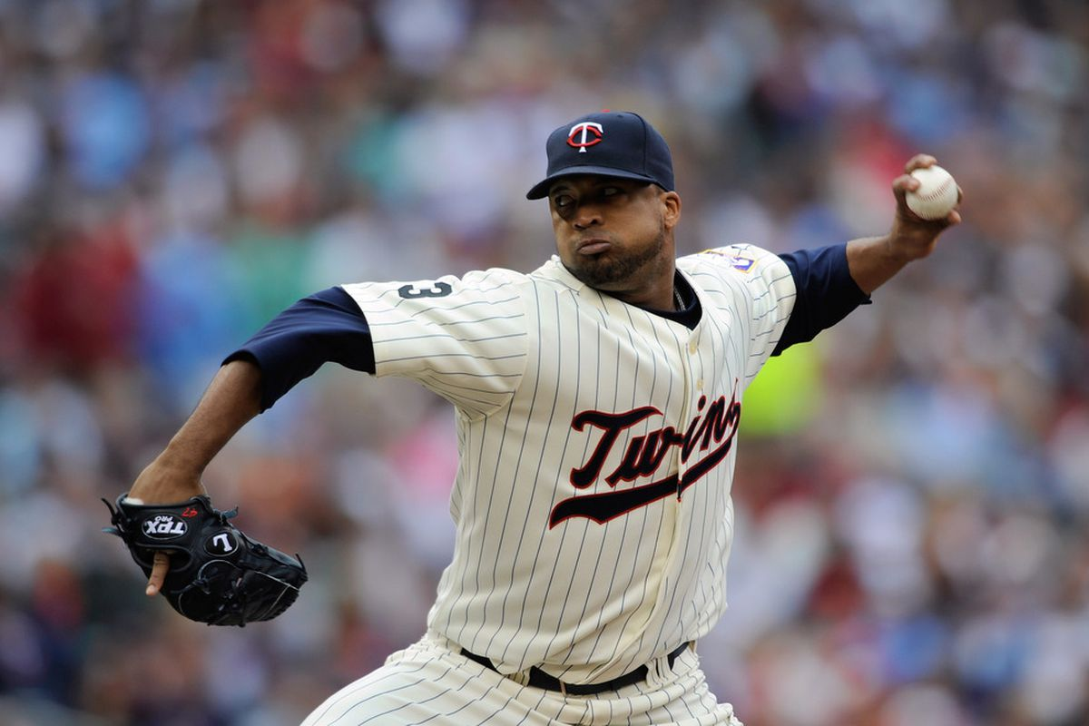 MINNEAPOLIS, MN - JUNE 12: Francisco Liriano #47 of the Minnesota Twins pitches against the Texas Rangers during the second inning of their game on June 12, 2011 at Target Field in Minneapolis, Minnesota. (Photo by Hannah Foslien/Getty Images)