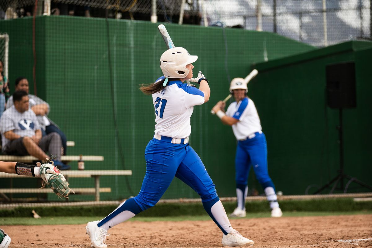 Libby Sugg went a perfect 4-for-4 at the plate with three runs, three RBI and a homer against SUU.