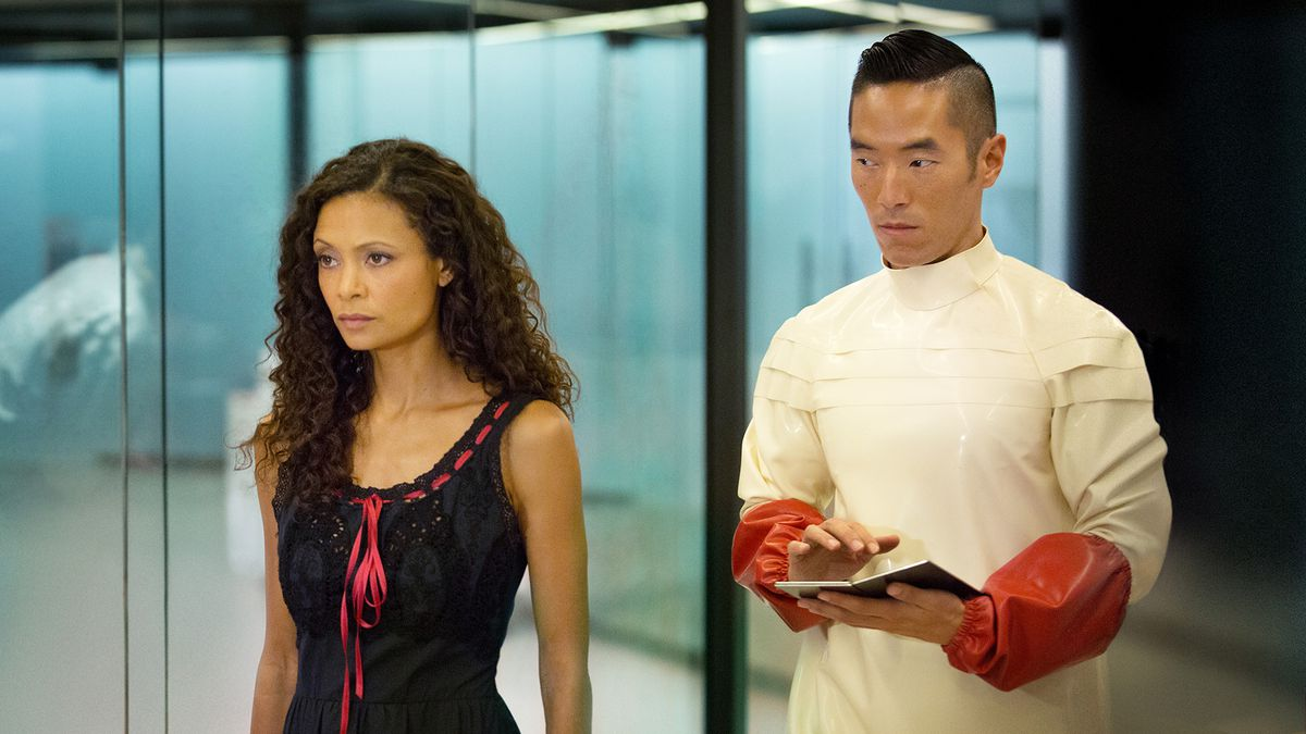 Maeve and Felix in Westworld