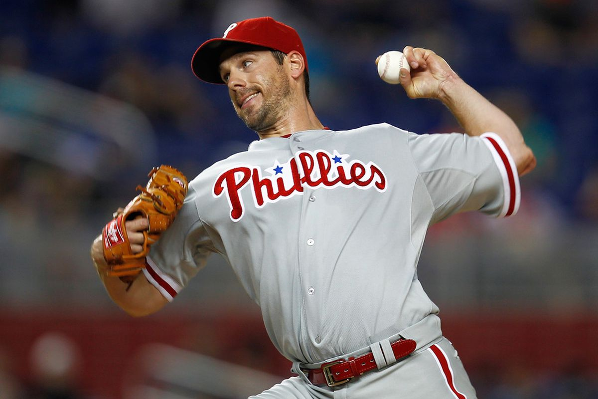 CLIFF LEE, right?  (Photo by Sarah Glenn/Getty Images)