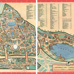 """World's Fair map from the New Yorker via <a href=""""http://nywf.tumblr.com/Resources"""">NYWF.Tumblr</a>."""
