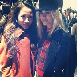 """Wendy Nguyen of <a href=""""http://la.racked.com/archives/2013/05/21/la_blogger_wendy_nguyen_is_tacoris_first_brand_ambassador.php""""target=""""_blank"""">Wendy's Lookbook</a> with Courtney Trop of Always Judging at Herve Leger."""
