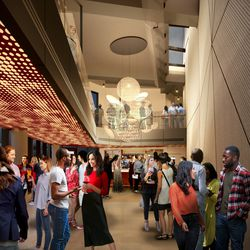 The revamped interior bar coming to the Steppenwolf Theatre. | Adrian Smith + Gordon Gill (provided)