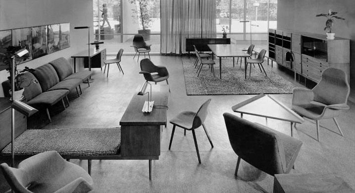 MoMA s  Organic Design in Home Furnishings  exhibition  which opened in  1941  Photo via Pointed Leaf Press. Why the world is obsessed with midcentury modern design   Curbed