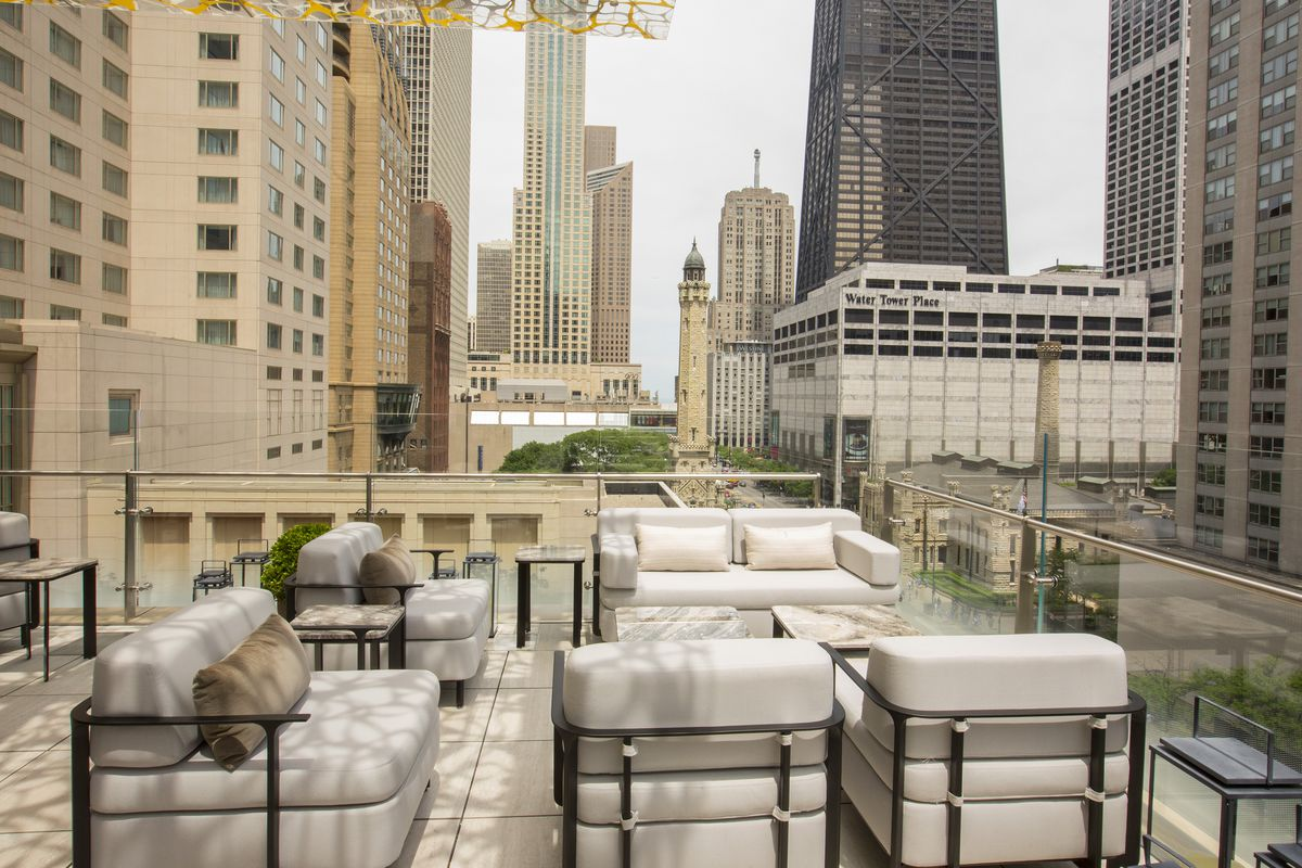 The View From Z Bar At Peninsula Chicago Hotel Barry Brecheisen