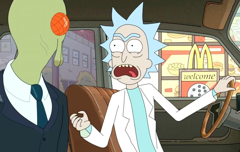 Rick and Morty - Rick at McDonald's drive-thru