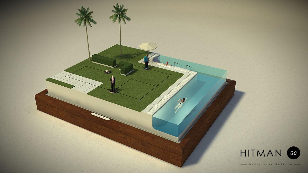 Hitman Go: Definitive Edition - mansion / swimming pool 1280