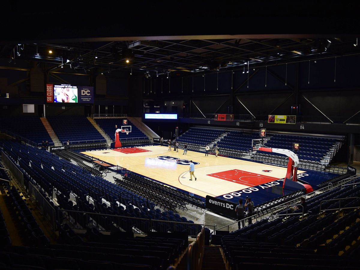 The interior of a sports arena in Washington D.C.
