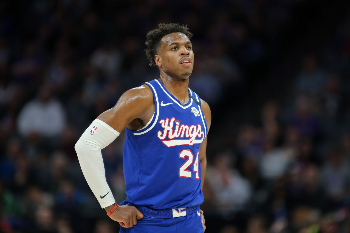 Sacramento Kings guard Buddy Hield during the game against the Philadelphia 76ers at Golden 1 Center.