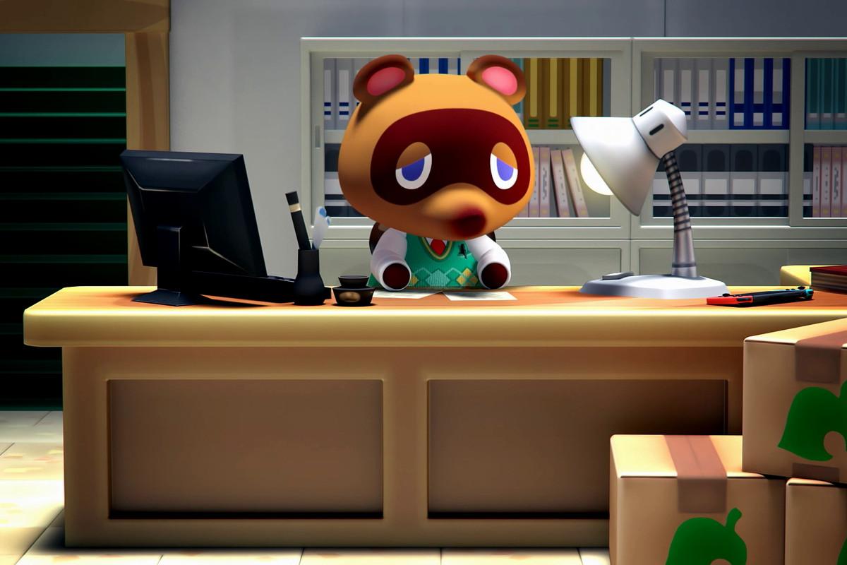 artwork of Tom Nook in Animal Crossing: New Horizons