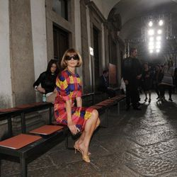 Anna Wintour attends the Missoni Spring/Summer 2012 fashion show as part Milan Womenswear Fashion Week on September 25, 2011 in Milan, Italy