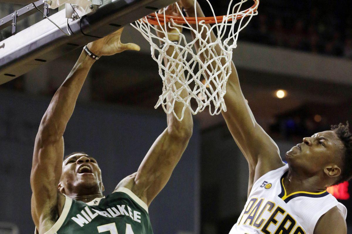 NBA: Preseason-Milwaukee Bucks at Indiana Pacers