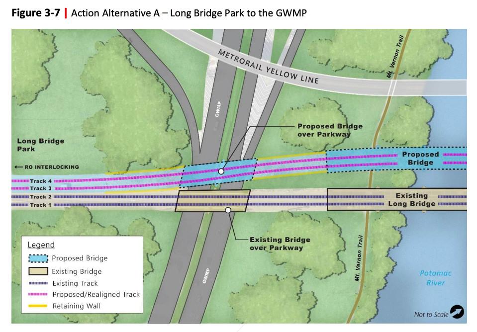 Long Bridge project from Long Bridge Park to the George Washington Memorial Parkway.