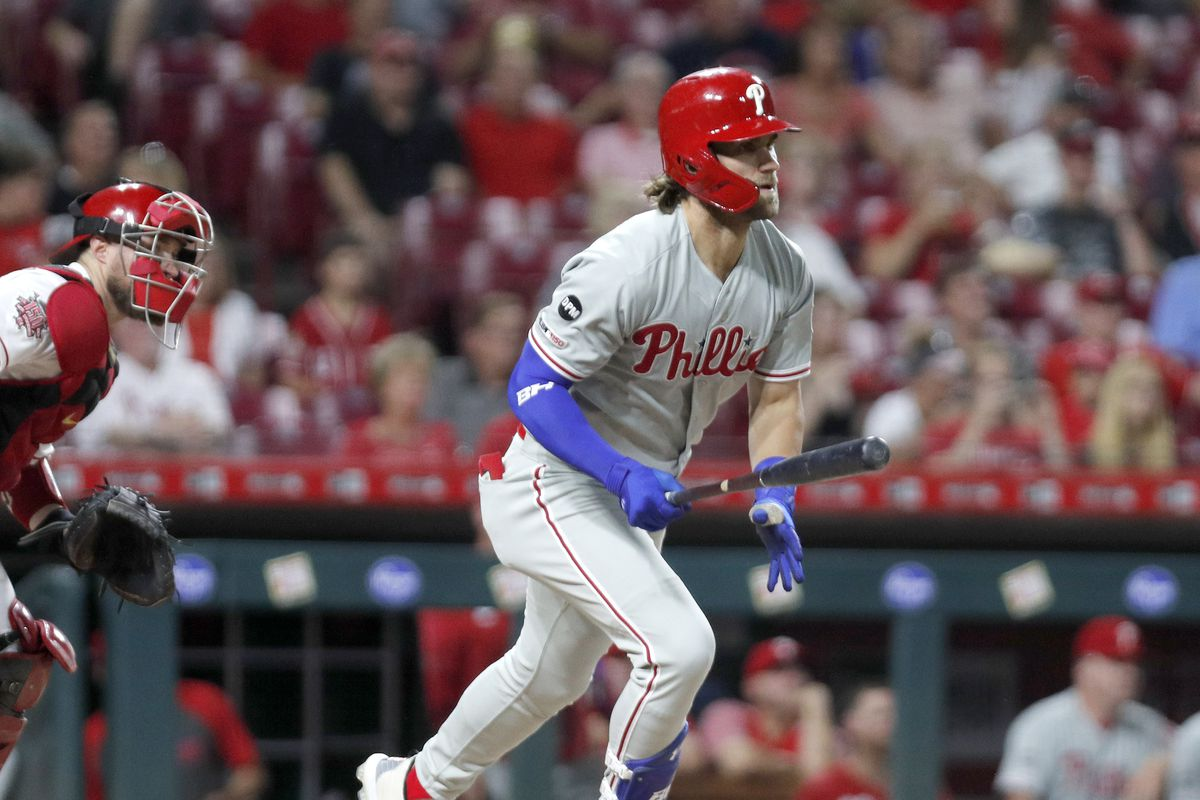 Bryce Harper picks up 100th RBI of the season as Phillies thump Reds 6-2