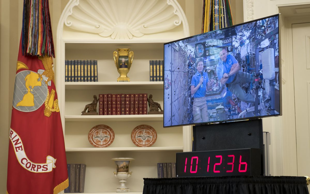 President Trump Hosts Video Conference with NASA Astronauts