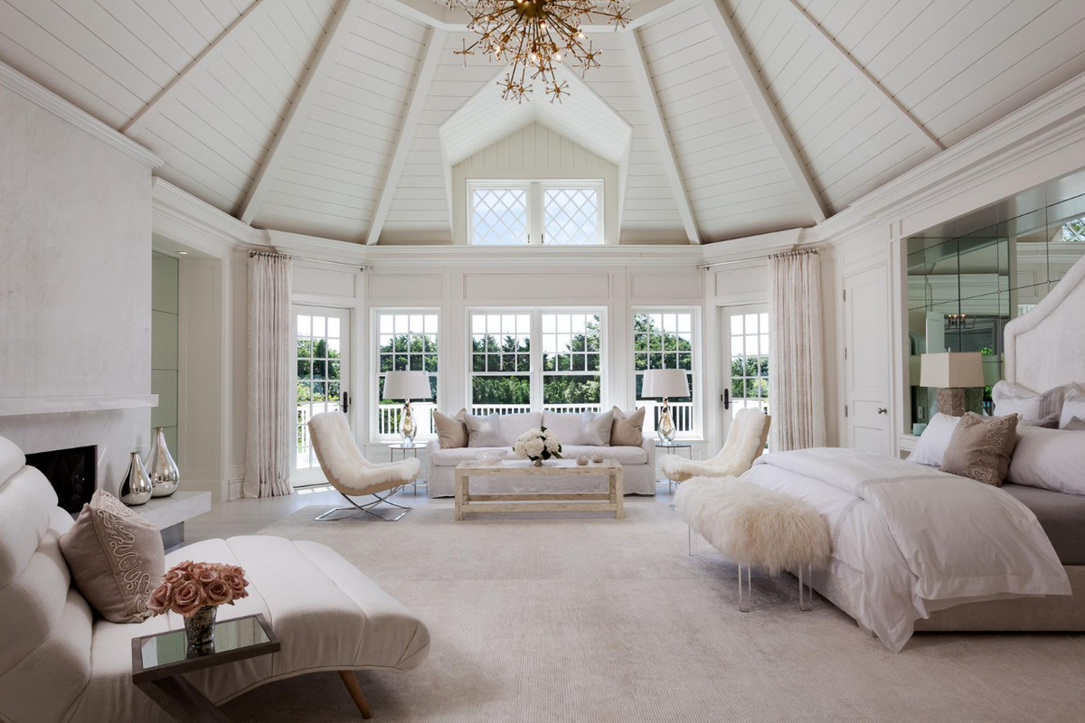 interesting master bedroom suite | Hamptons homes for sale with two master suites - Curbed ...