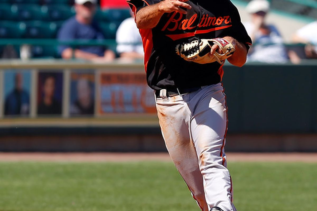 New Oriole J.J. Hardy had two hits in three at-bats today.