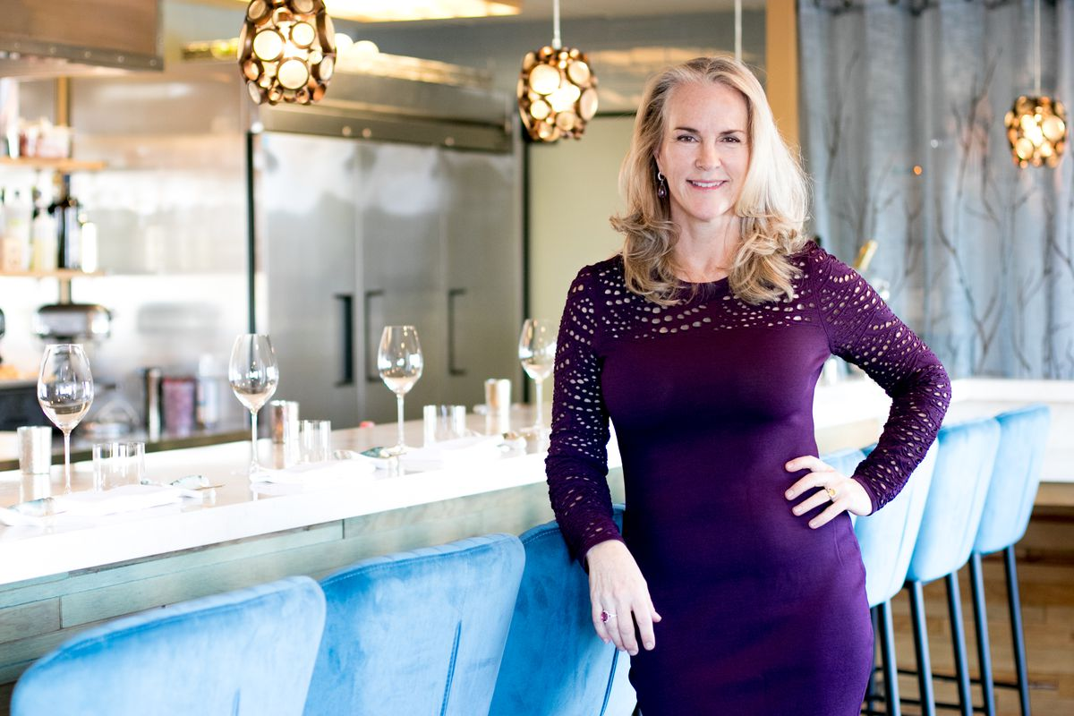 Deborah Keane, founder of the California Caviar Company, in the Bump Bar