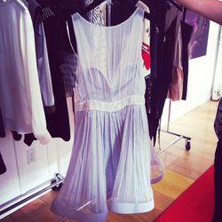 Actress Emmy Rossum wore this Katherine Kidd (an LA designer!) dress.