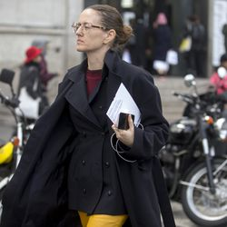 Glasses are trending at the Paris Fashion Week shows.