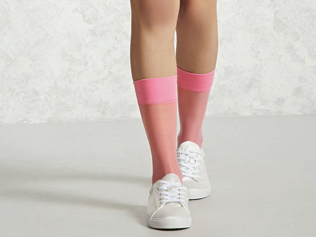 Forever 21 Nylon Crew Socks, $3.90