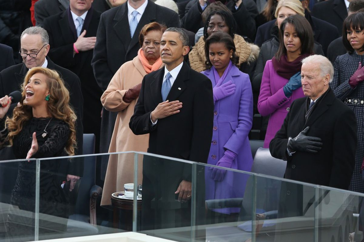 Beyonce and the first family, via Getty