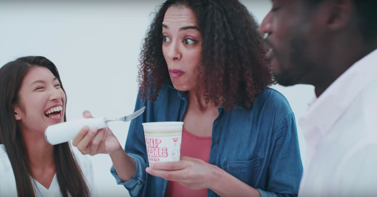 Nissin Introduces Noise-Canceling Ramen Fork