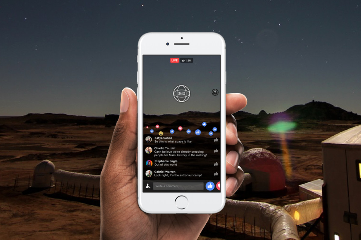 Facebook will begin testing live 360-degree video with
