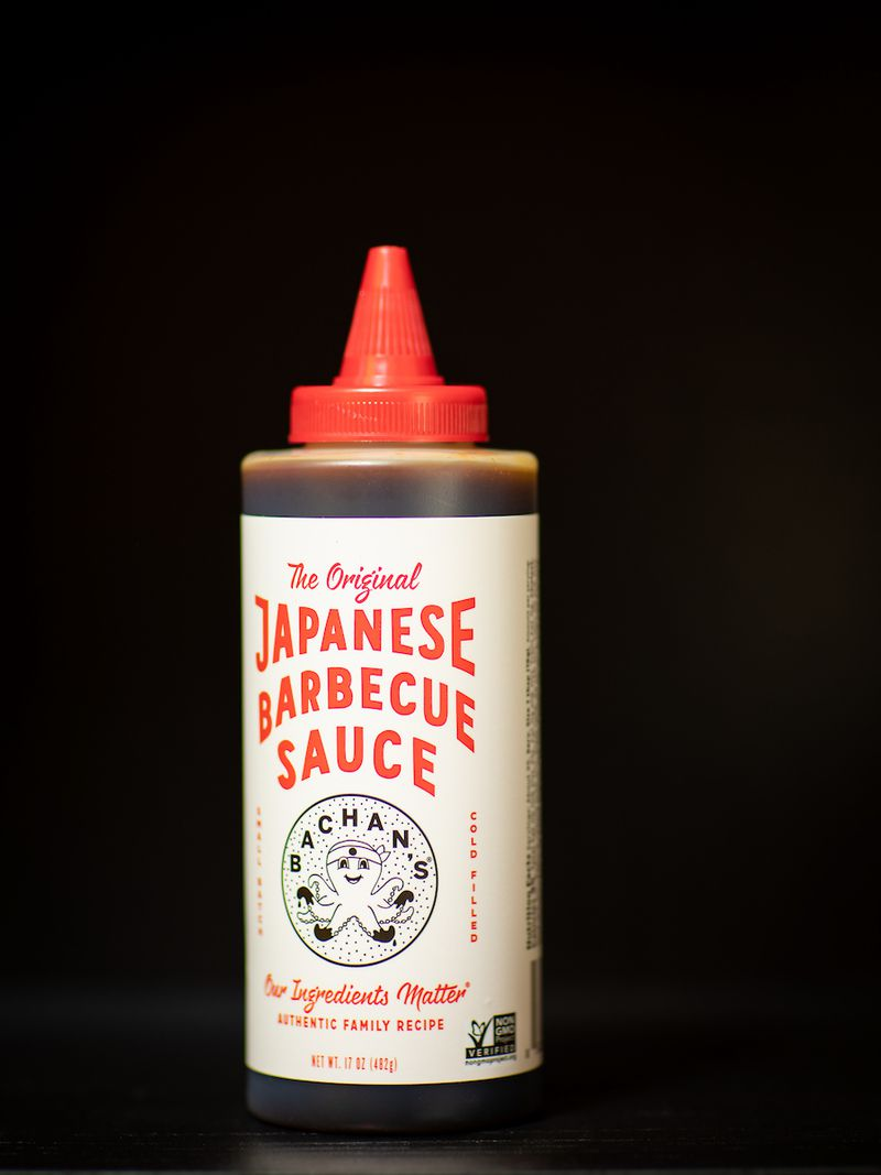 A bottle of Bachan's Japanese barbecue sauce