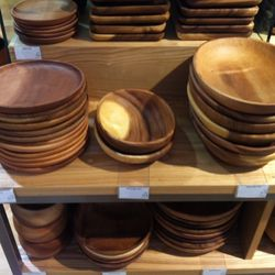 We're especially loving these wooden bowls