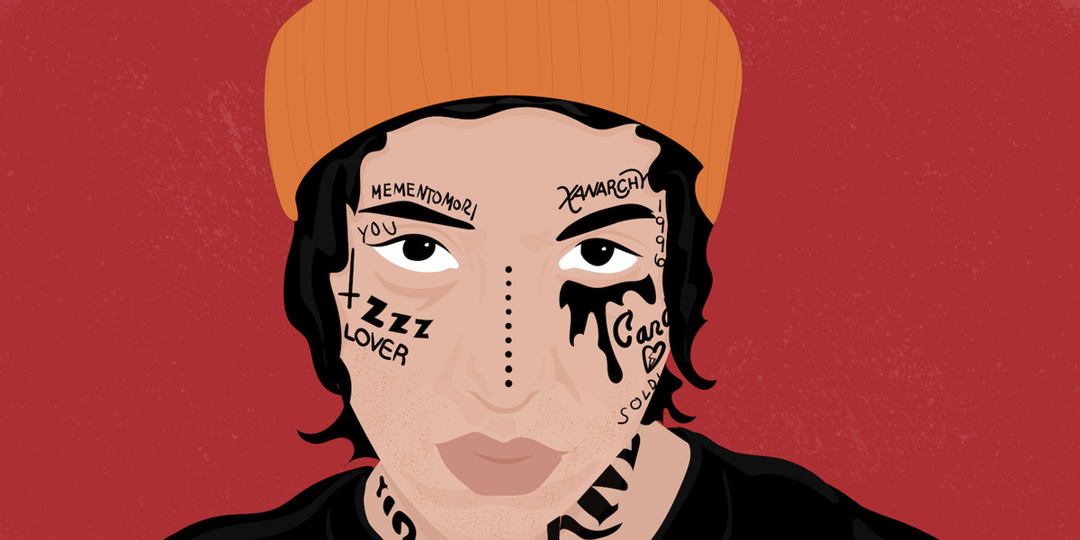 How face tattoos took over SoundCloud, Instagram, and