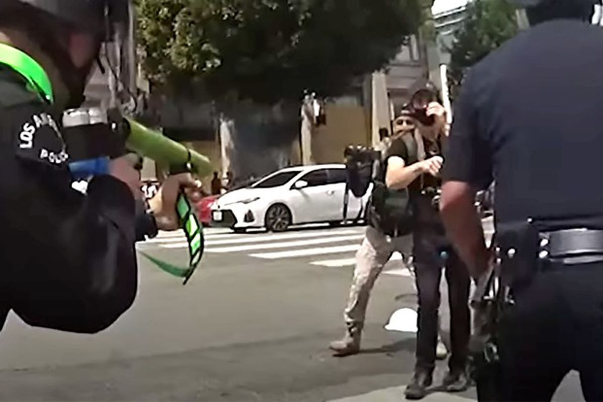 LAPD and protesters