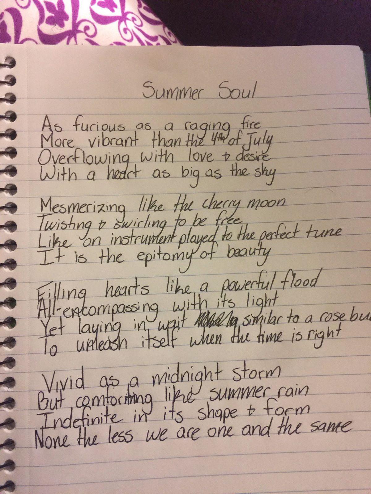 A recent poem by MylesGarrett