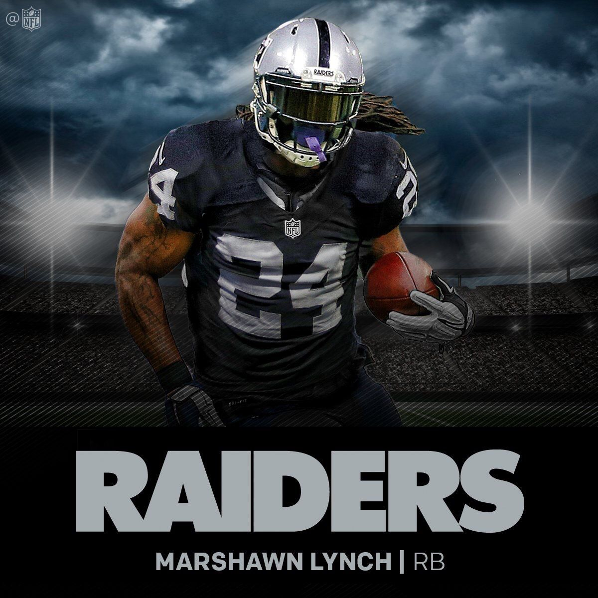 Marshawn lynch to wear raiders legendary number 24 silver and raiders fans can now get used to this image voltagebd Image collections