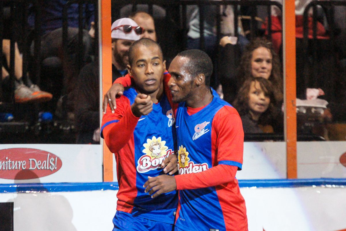 Max Touloute with three goals and Ramone Palmer combined for five goals against St. Louis