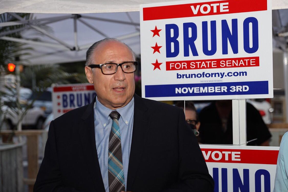 Challenger Vito Bruno was ahead in the race for the State Senate district that includes Bay Ridge, Brooklyn.