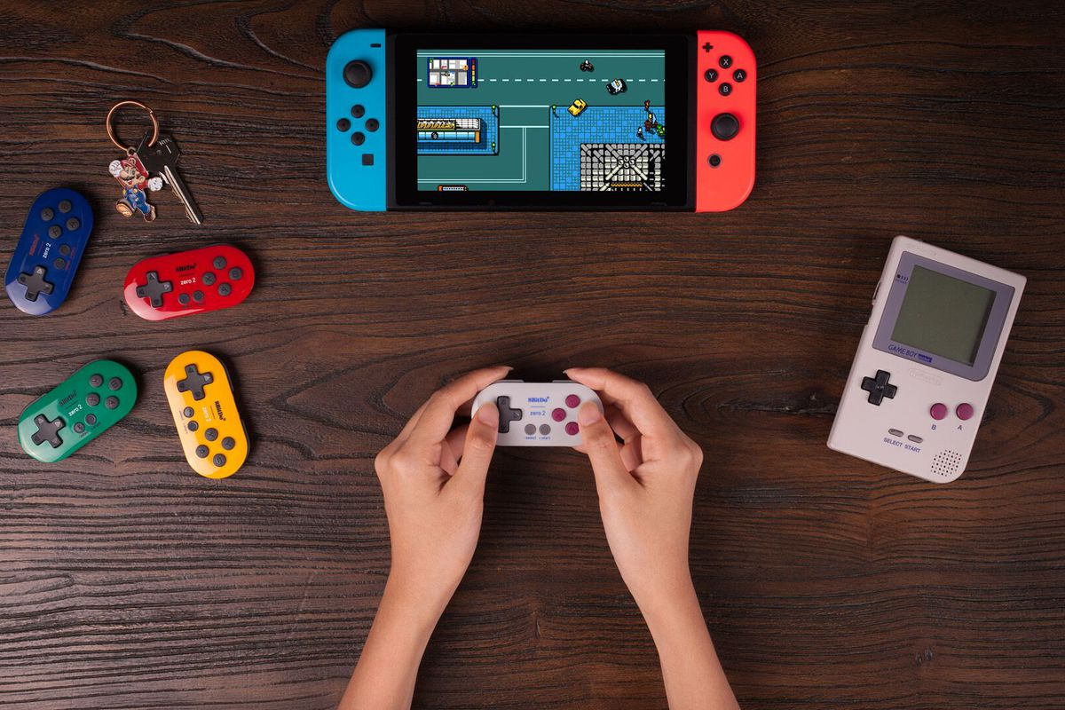 8Bitdo's tiny new Bluetooth controller fits on a keychain