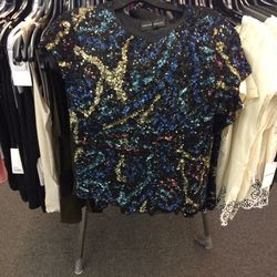 Sequin top, size S, $120 (was $445)
