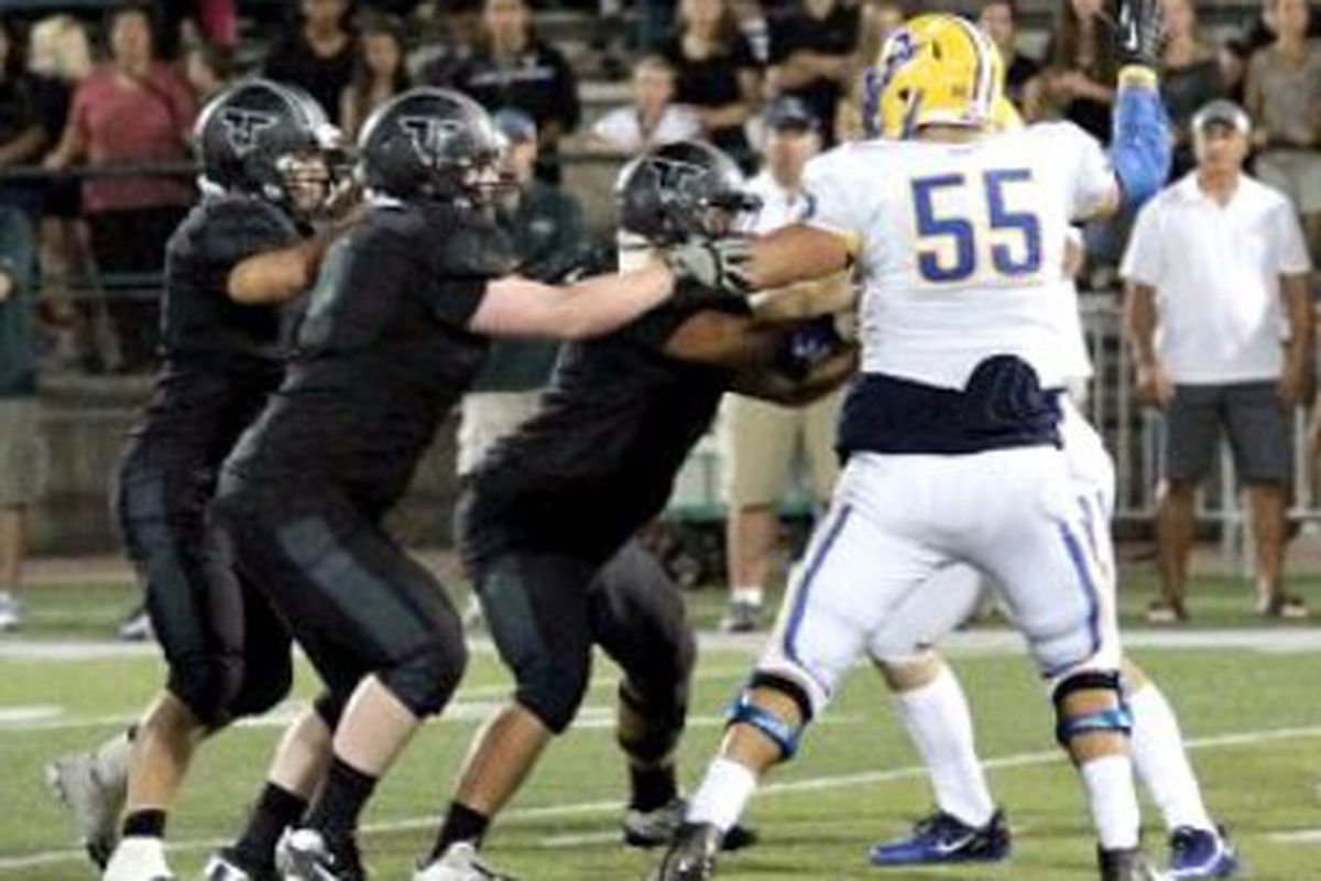 Brayden Kearsley (55) commanded a lot of attenton from opponents while at Aloha.