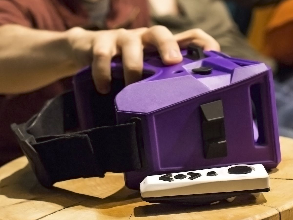 The Merge headset and motion controller