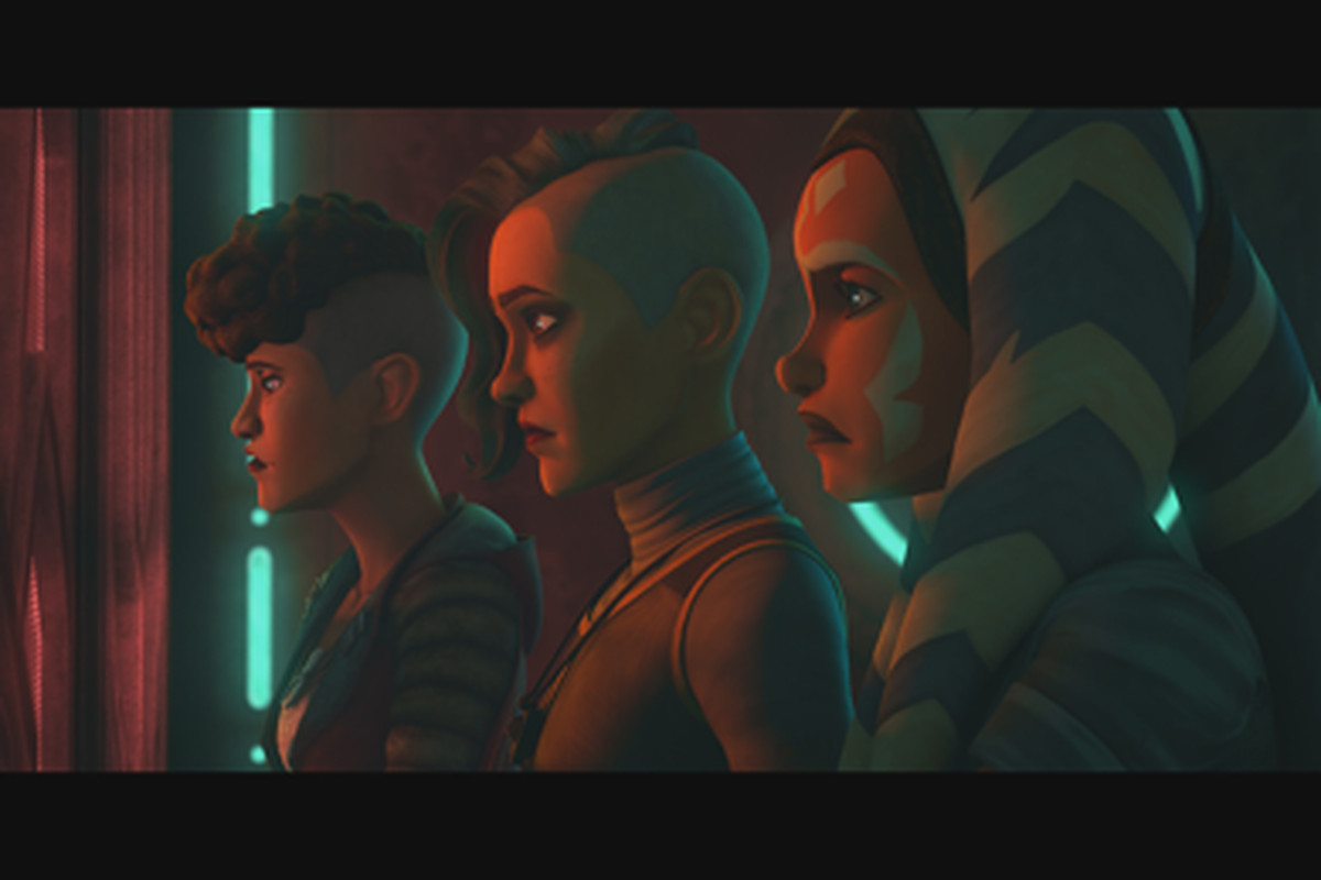 """After being imprisoned by the Pykes, Ahsoka Tano and the Martez sisters manage a daring escape of their stronghold. Together they flee through the city to their ship, desperate to evade the Pyke forces in pursuit in """"Dangerous Debt,"""" an all-new episode of """"Star Wars: The Clone Wars"""" this FRIDAY, April 3 on Disney+."""