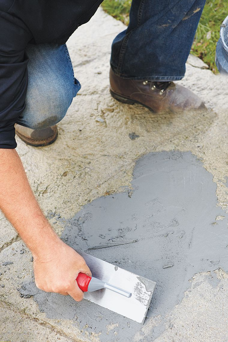 Patching Spalled Areas With Trowel