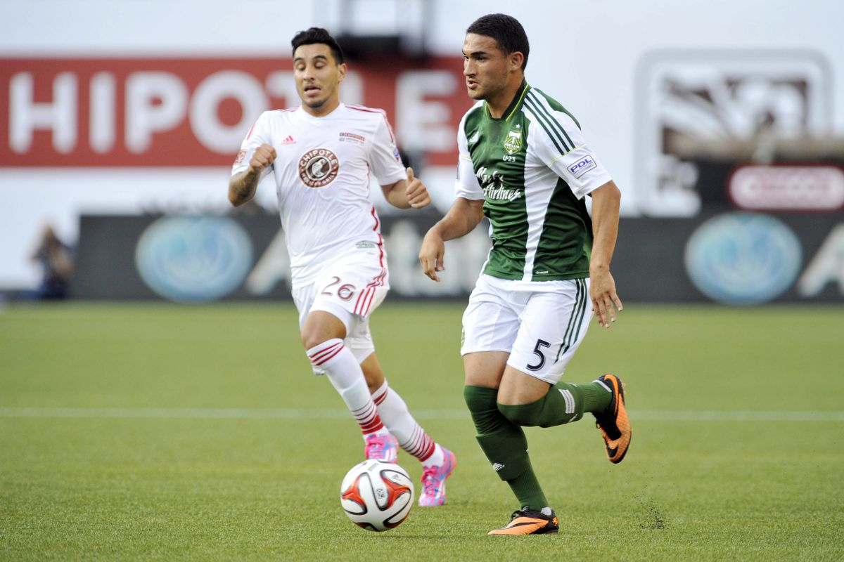 Roldan playing for Timbers U-23 in the Homegrown game this past summer
